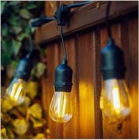 ingrosso stringa e27-Outdoor S14 impermeabile lampada String E27 / E26 Corsa di cavalli sostituibile della lampada della stringa con la decorazione Courtyard Restaurant Wedding lampada String