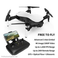 Wholesale channel cameras resale online - Aurora G WiFi FPV Brushless Motor P K HD Camera GPS Dual Mode Positioning Foldable RC Drone Quadcopter RTF Fly KM A04