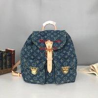 erkekler için kız tuval sırt çantası toptan satış-Yeni Unisex Erkekler Tuval Sırt logo baskı Büyük denim Gençler Erkek Kız Kapak kapak Seyahat Dizüstü Backbag Mochila Sırt Çantası