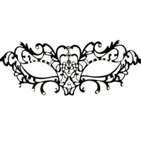 Wholesale sexy crystal masks resale online - Black Venetian Metal Filigree Laser Cut Masquerade Mask W Crystals Halloween Party Mask Dancing Party Women Sexy Half Mask