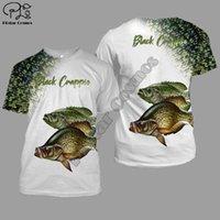 Wholesale fish crappie for sale - Group buy Crappie Fishing D Printed men t shirt Harajuku Fashion Short sleeve shirt summer streetwear Unisex tshirt tops