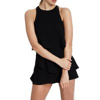 50d23b2fb6e MUQGEW Overalls for women Women Solid Chiffon Ruffle Sleeveless Jumpsuit  Casual Clubwear Wide Leg Pants vadim macacao feminino