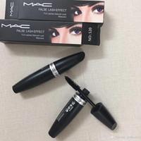 markalı maskara toptan satış-MAC M MC Mac'ler Marka Makyaj Maskara Yanlış Kirpik Etkisi Tam Lashes Doğal Bakmak Maskara Siyah Bakmak Su Geçirmez 520 Gözler makyaj