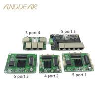 ingrosso schede madri per schede industriali-Industrial Ethernet Switch Module 5 Ports Unmanaged10 / 100 / 1000mbps Scheda PCBA Porte auto-sensing OEM Scheda PCBA Scheda madre OEM