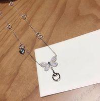 butterfly necklaces großhandel-Luxus Hochzeit Frau Halskette G und Ghost Series S925 Sterling Silber New Butterfly Anhänger Halskette Fashion Statement Halsketten
