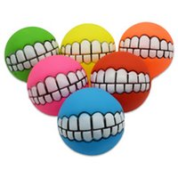 6 kinds of pet toys of different colors 7.5 cm enamel vocal teeth ball dog training ball toy dog supplies T3I5215