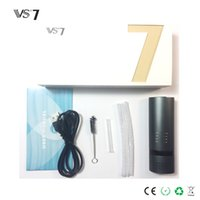 Wholesale silver e pipe for sale - Group buy Vaporsource VS7 Dry Herb Vapoprizer Ceramic Heating Chamber Temperature Control with Glass Pipe Titanium Herbal E Cigarettes Kit DHL Free