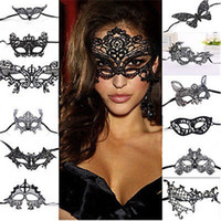 Wholesale venetian masquerade costumes for women resale online - Halloween Masks Women Sexy Lace Eye Mask Party Masks For Masquerade Halloween Venetian Costumes Carnival Mask R0648