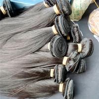 tração de cabelo de 28 polegadas venda por atacado-1 kg Preço de Fábrica Brasileira Cabelo Virgem Reta Peruano Cambojano Mongol Malaio Virgem Cru Indiano Pacotes de Trama Do Cabelo Humano 10-28 polegada