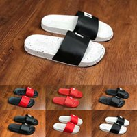 Wholesale mens casual shoes wide for sale - Group buy Hot Summer Mens Womens Fashion Luxury Black White Red Sandals Designer Shoes Youth Wide Flat Slippery Sandals Slipper Flip Casual Shoes
