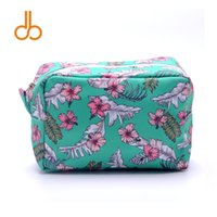 Wholesale unique cosmetics makeup for sale - Group buy Blanks DOMIL Unique Design Hawii inspired Cosmetic Bag Hibiscus Flower Makeup Bag Aloha Cosmetic Case DOM103457