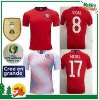 chile jerseys venda por atacado-2019 Chile Copa América de Futebol ALEXIS VIDAL VALDIVIA MEDEL PINILLA VARGAS 19 20 Casa Fora camisa de futebol