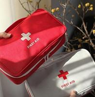 botiquines de primeros auxilios al por mayor-Nuevo kit portátil portátil vacío bolsa de primeros auxilios bolsa de la oficina en casa emergencia médica de rescate de viaje bolsa de caso médico paquete de calidad superior