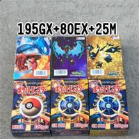 детские флеш-карты оптовых-Новейшие Pokemons Card Game 195GX + 80EX + 25M Flash Card Лучшие Игрушки Для Детей Игрушки Карточные Игры Карты Бесплатная доставка DHL