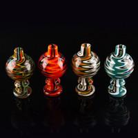 cremas térmicas al por mayor-Nuevo color de los EE. UU. Wig Wag Glass Bubble Carb Cap 26mm OD Para Quartz Banger Nails tubos de agua de vidrio