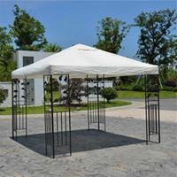 палатки для палаток оптовых-3x3m 300D холст кемпинг пешие прогулки Солнце укрытие открытый палатка навес верхняя крышка крыши патио тени от Солнца ткань тень укрытие заменить часть