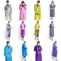 waterproof ponchos for children 도매-6 개 색상 EVA 비옷 방수 레인 코트 후드 큰 어린이 투명 외투의 일종 휴대용 환경 빛 레인 코트 롱 바람 코트 M999