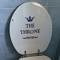Wholesale funny bathroom decor for sale - Group buy Creative Vinyl THE THRONE Funny Interesting Toilet Wall Sticker Bathroom for Home Decor Decal Poster Background Stickers