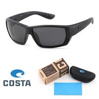 sonnenbrille für heiße sonne großhandel-Heißer Verkauf Markendesigner COSTA Rahmen Thunfisch Gasse Polarisierte Sonnenbrille Männer Frauen Angeln Brille Surfen Sonnenbrille mit Komplettpaket
