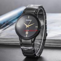klasik elmas kuvars saat toptan satış-Ld Toptan Saatler Erkek moda Marka Elmas Takvim Kuvars Saatı Erkekler Altın Vintage Tasarımcı Saatler Montre Homme Altın Yeni