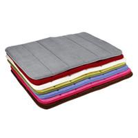 Wholesale shaggy bath mats resale online - 40 cm Bath Mat Bathroom Carpet Water Absorption Rug Shaggy Memory Foam Bathroom Mat kitchen Floor tapis Accessories