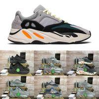 Wholesale best athletic running shoes resale online - New Runner Kanye West Carbon Teal Blue Magnet Wave Grey Magnet Inertia men womens Athletic Inertia OG shoes Best Quality Running Shoes