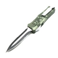 Wholesale self defense aluminum for sale - Group buy 616 inch inch camo green double action tactical self defense folding double edc action knife automatic knife automatic knives