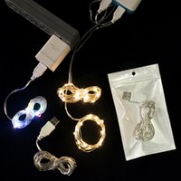 Discount diy solar lights 2m 5M 10M USB charger LED Copper Wire string light holiday light Outdoor Fairy LED Strip Wedding Christmas home decor