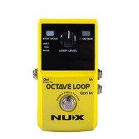 pedal de efectos looper al por mayor-NUX Octave Loop Looper Pedal con -1 Octave Effect Infinite Layers con Bass-Line True Bypass Efecto de pedal de guitarra
