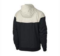 ingrosso calcio jersey hoodie-Commercio all'ingrosso di marca del progettista Jackets Mens club di calcio della squadra del pullover con cappuccio Patchwork sportivo Zipper cappotti Stampa ricoprono la tuta sportiva B100025L