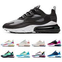 ingrosso vendita di scarpe aeree-nike air max 270 react Gli uomini di vendita caldi reagiscono scarpe da corsa di alta qualità tripla nero bianco verde mens scarpe da ginnastica scarpe sportive da jogging a piedi
