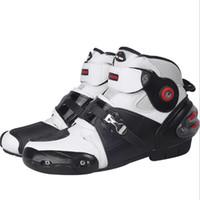 botas de corrida de motocicleta de velocidade venda por atacado-Botas de couro da motocicleta SPEED Racing Boots Motocross resistência à queda de corrida de equitação à prova d'água