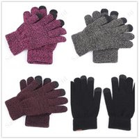 Wholesale pro cycling for sale - Group buy C Knitted Gloves Man Woman Winter Warm Portable outdoor sports Cycle Five Fingers Touch Screen Brand Gloves For iphone Pro MAX DHL A11601