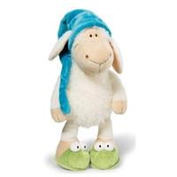 satılık büyük bebekler toptan satış-2016 Yeni Sıcak Satış Büyük 50 cm Almanya Nici Jolly Uykulu Koyun Peluş Bebek Hayvan Oyuncak Çocuk Doğum Günü Hediye 1 adet Noel Presents