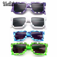 Wholesale mirror games resale online - 10pcs Kids Sunglasses Smaller Size Cos Play Action Game Toys Sunglasses Mosaic Boys Girls Children Pixel Eyewares