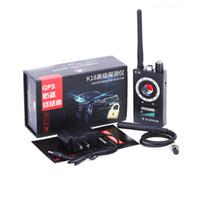 mini rf cihazı toptan satış-K18 Hata Dedektörü Anti-RF Sinyal Dedektörü Bulucu Kablosuz Mini Kamera Lazer Lens için GPS Izci GSM Takip Cihazı Ultra-yüksek Duyarlılık