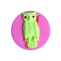 Wholesale halloween chocolate molds for sale - Group buy Owl Silicone Mold DIY Halloween Party Cake Decorating Tools Cupcake Fondant Chocolate Candy Mould Resin Clay Molds JK1909