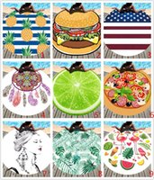 Wholesale round polyester scarf for sale - Summer Round Beach Towel for Women Polyester Beach Shawl scarf Swim Sunbathing Blanket outdoor Picnic mat MMA1587
