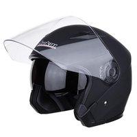 ingrosso tappi per obiettivi-Casco moto JIEKAI Double Lens Casco per motociclista equipaggiato con protezione parziale Cappuccio protettivo Jk521
