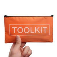 Wholesale tool set instrument for sale - Group buy 19 cm Orange Oxford Cloth Tools Set Bag Zipper Storage Instrument Case Pouch Waterproof Useful Tool Kit Packaging Bag