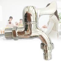 grifos de grifos de plastico al por mayor-Single Garden Engineering Plastic Faucet Apertura rápida Cuarto de baño Galjanoplastia del ABS Carrete Montado en la pared Grifos de agua fría