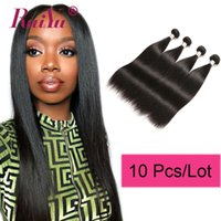 bakire hint saçları fiyatları toptan satış-Toptan Fiyat 10 Paketler İşlenmemiş Brezilyalı İnsan Saç Ham Bakire Hint Saç Düz Derin Vücut Dalga Sapıkça Kıvırcık Saç Uzantıları