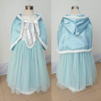 Wholesale spring cotton ponchos for sale - Group buy Baby Girl cosplay makeup skirts Tutu Lace Ruffled Dress With Hoodie Cape Poncho Fleece Lace Princess Puff Shoulder Christmas Dresses clothes