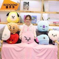 crianças coreanas brinquedos venda por atacado-25 CM Coreano Combinação Popular BTS Liga de Juventude à prova de balas Idol Puppy Toy Boneca das Crianças Decoração Presente Da Menina Travesseiro