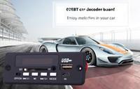 mini decodificador venda por atacado-Mini Funcional 02ebt Mp3 Car Decoder Board Bluetooth Hands-free Chamada Controle Remoto Função de Memória de Corte De Energia frete Grátis
