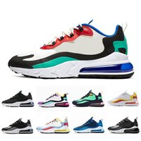 zapatillas de hombre azul al por mayor-Nike air max 270 react shoes BAUHAUS white Blue React men running shoes OPTICAL triple black mens trainers breathable sports outdoor sneakers 40-45