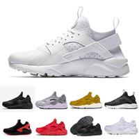 kızlar renkli spor ayakkabıları toptan satış-Nike Air max Huarache 1.0 3.0 4.0 5.0 6.0 35Huarache Sneakers Büyük Çocuk Erkek ve kız Renkli Siyah Beyaz Huarache Mavi Koşu Ayakkabı Sneakers Üçlü Huaraches Atletik Spor Ayakkabı