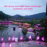 Wholesale plastic raindrops for sale – best LED cherry tree light LED bulb cm height VAC seven colors to choose from for outdoor raindrop transport