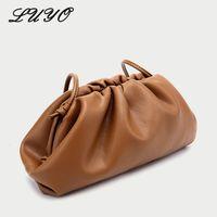 köfte omuz torbaları toptan satış-Kadın Michael için Kesintili Bulutlar Omuz Çantası Yumuşak Deri El Çantası Dumpling Lüks Çanta Kadınlar Çanta Tasarımcı Crossbody Çanta
