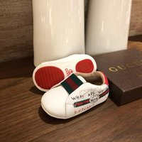 Wholesale kids wearing shoes for sale - Group buy Kids Designer Shoes Luxury Letter G Printing Flat Shoe Baby Toddler First Walkers Girls Party Wear Boys Elastic Band Kid Sneakers